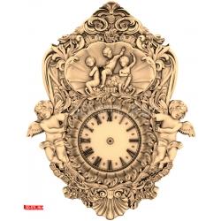 "Часы ""Часы Ангелочки (2)"" | STL - 3D модель для ЧПУ"