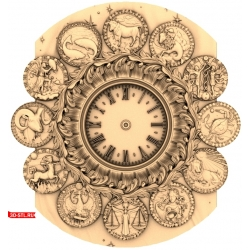 Часы Знаки Зодиака #2